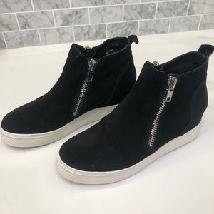 Steve Madden Black Heeled Booties